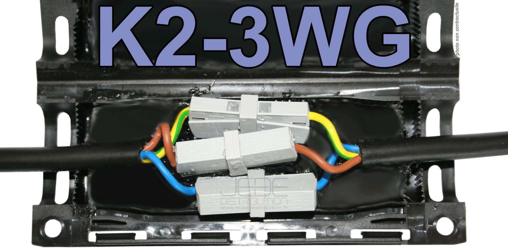 Bo te de jonction gel k2 3wg224201 avec 3 bornes ressort - Boite de jonction ...