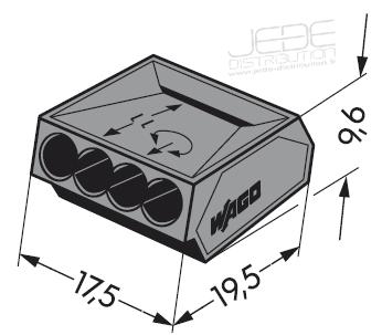 borne wago pour 4 conducteurs jede distribution. Black Bedroom Furniture Sets. Home Design Ideas