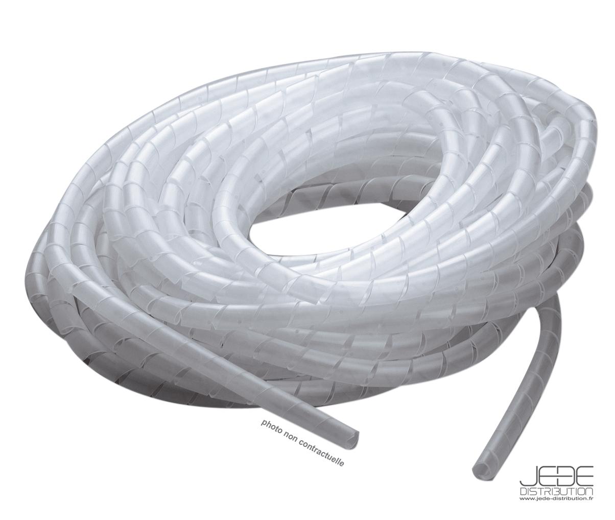 gaine spiral e transparente 15 mm 10 m jede. Black Bedroom Furniture Sets. Home Design Ideas