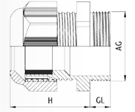 Presse toupe m16 5 10 gris ral7035 filet court et contre - Presse etoupe legrand ...