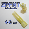 Fiche plate Femelle isolée Nylon + Thermo ZPFNT 4-6 jaune