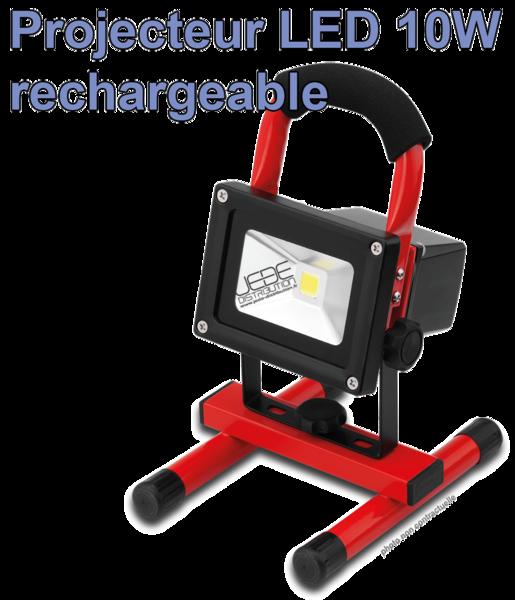Projecteur 10w À De Chantier Led Autonome UMpSVz