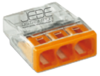 Borne WAGO 2273-203 ultra-compact 3x0.5-2.5mm²  transp/orange