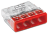 Borne WAGO 2273-204 ultra-compact 4x0.5-2.5mm²  transp/rouge