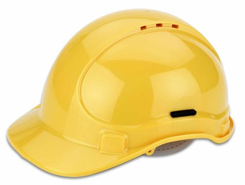 Casque de protection jaune en HDPE selon DIN EN 397