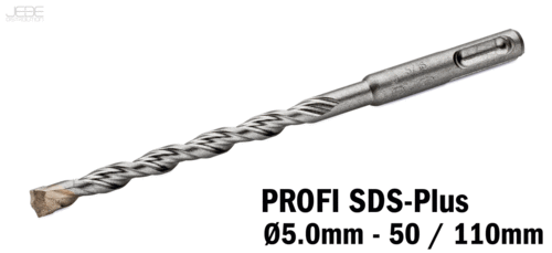 Foret à percussion PROFI SDS-Plus  Ø5.0mm - 50 / 110mm