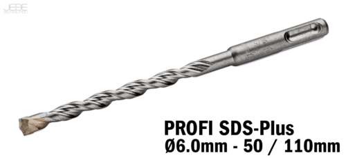 Foret à percussion PROFI SDS-Plus  Ø6.0mm - 50 / 110mm