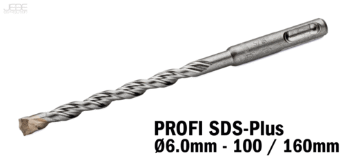 Foret à percussion PROFI SDS-Plus  Ø6.0mm - 100 / 160mm