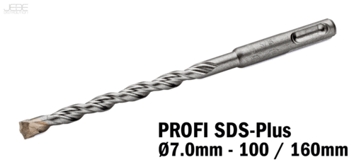 Foret à percussion PROFI SDS-Plus  Ø7.0mm - 100 / 160mm