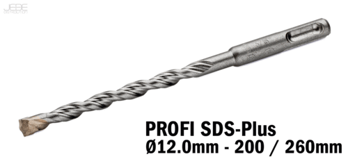 Foret à percussion PROFI SDS-Plus  Ø12.0mm - 200 / 260mm