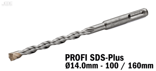 Foret à percussion PROFI SDS-Plus  Ø14.0mm - 100 / 160mm