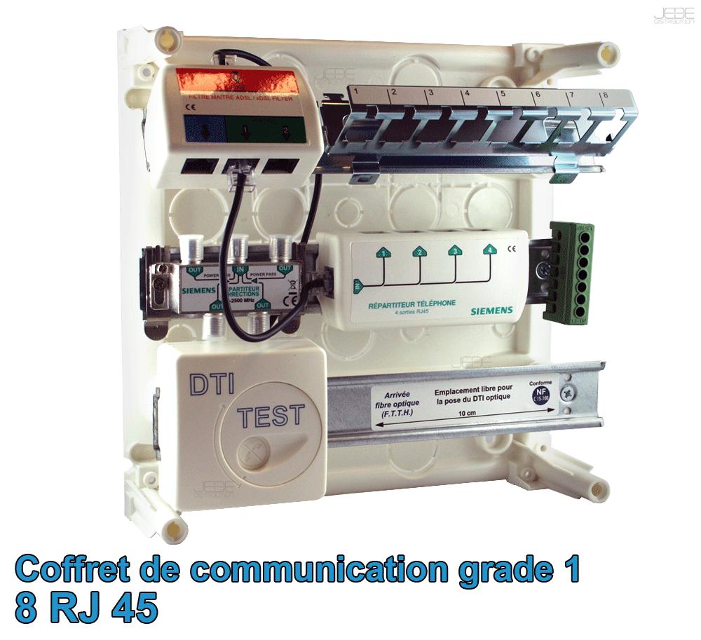 Coffret de Communication de grade 1 avec 8 prises RJ45 SIEMENS