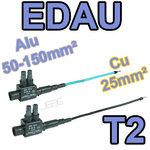 EDAU 150-25 T2 lot de 2 embouts de branchement longs (1Ph + 1N) 50 à 150 vers 25mm²
