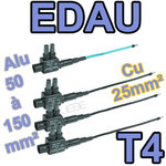 EDAU 150-25 T4 lot de 4 embouts de branchement longs (3Ph + 1N) 50 à 150 vers 25mm²