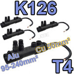 K126 T4 lot de 4 embouts réducteur de section à dénudage 95-240 vers 50mm²