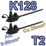 K128 T2 lot de 2 embouts réducteur de section à dénudage 6-50M vers 25mm²
